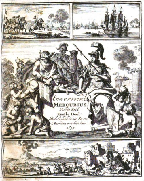 Couverture du Europische Mercurius pour l'année 1693
